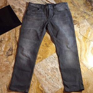 Hugo Boss charcoal gray Delaware slim fit stretch